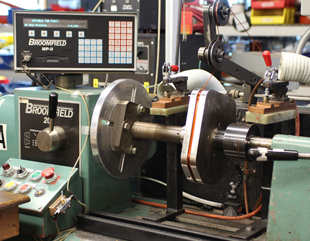 In-house winding tooling employing Broomfield Coil Winding equipment
