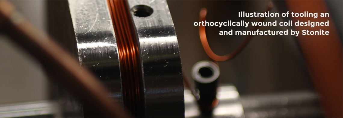 orthocyclically wound coil